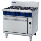 Blue Seal G506D Heavy Duty 6 burner Gas Range Drop Door - Nat or LP Gas
