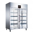 Blizzard Upright Double Glass Door Refrigerator- 650L