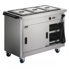 Lincat Panther 670 Series Hot Cupboard with three Bain Marie tops 1/1 GN P6B3