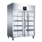 Blizzard Upright Double Glass Door Freezer - 650L