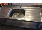 Second Hand Stainless Steel Sink Unit - 1.5m