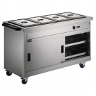 Lincat Panther 670 Series Hot Cupboard with four Bain Marie tops 1/1 GN P6B4