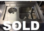 As New Stainless Steel Sink Unit - 920mm